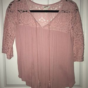 Arizona Eyelet Tassel Top